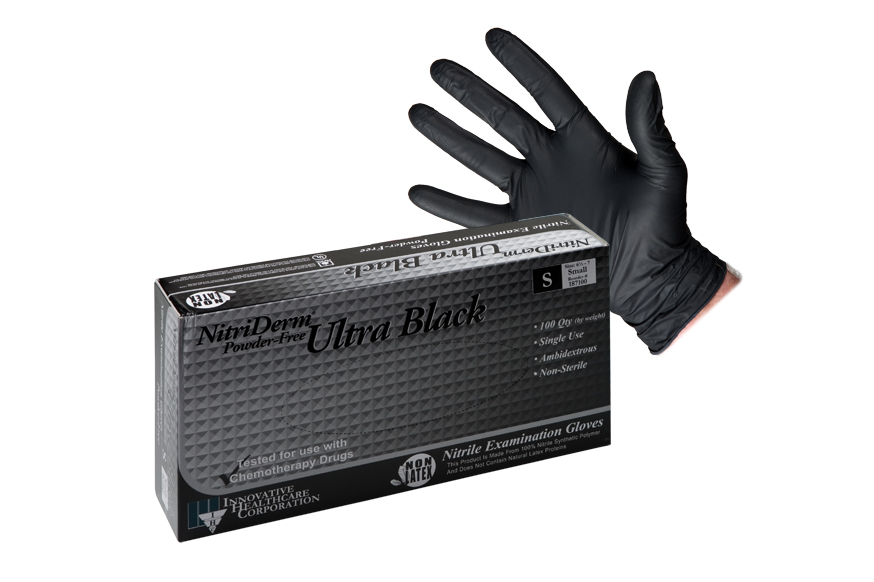 Black or Blue Nitrile Gloves