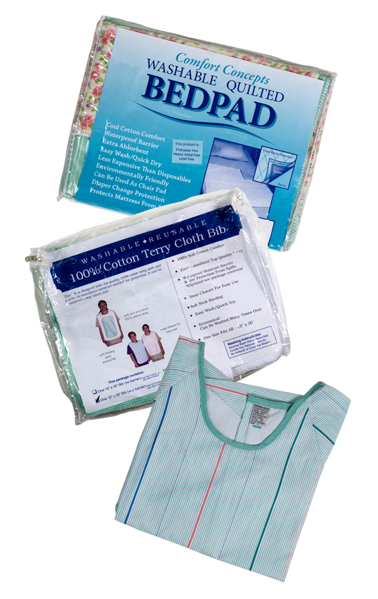 Reusable Bed Pads, Bibs, and Patient Gowns