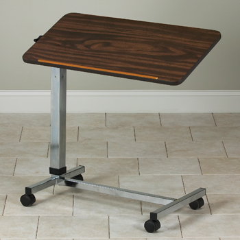 Over Bed Table, Tilt Top, Adjustable Height: $67.95
